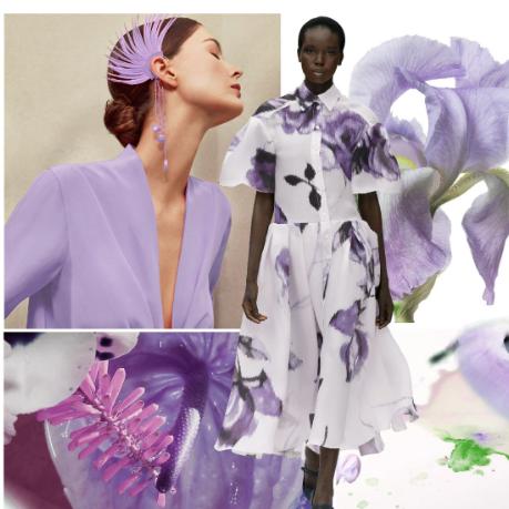 鸢尾紫--2021春夏女装主题色彩趋势
