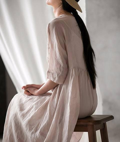 苎麻棉面料 棉麻绉布 肌理纹中国风唐装禅服裙子裤子洗水麻布料