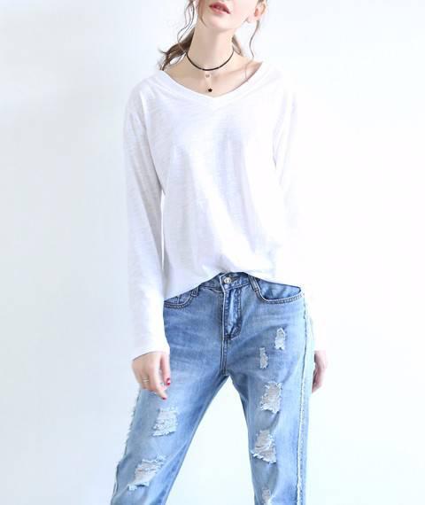 21S竹节棉单面汗布 童装纯棉面料 针织T恤服装布料