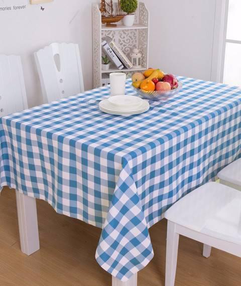 简约现代文艺大方格子清新北欧餐桌布茶几艺棉麻桌布面料布料DIY