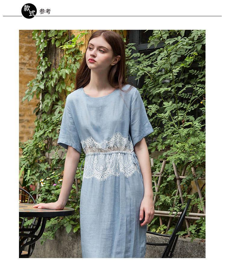 21S纯亚麻布料素色麻布亚麻衬衫裙子面料