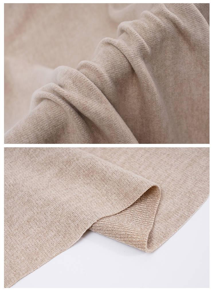 秋冬绒布针织毛衫面料 捻纱纹柔软保暖毛衣打底衫裤装服装布料