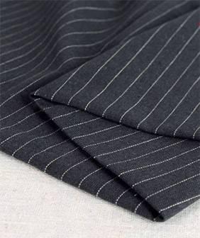 纯亚麻布料时尚细条纹裙装裤子套装外套服装面料麻布桌布沙发布