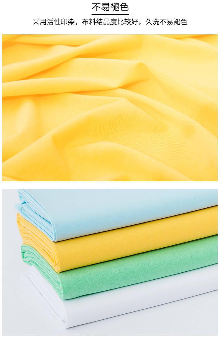强捻棉麻手感纯色服装汗布T恤针织布