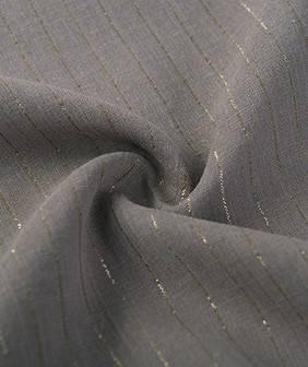 纯棉条纹棉布 金银丝条子布料 夏季轻薄款女装面料 时尚条纹布