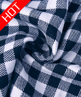 棉麻小格子服装面料桌布咖啡布艺田园餐桌布饭店台布茶几布布料
