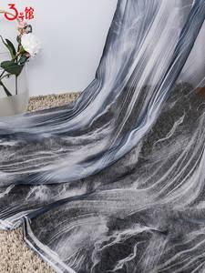 爆款水墨雪纺印花面料 汉服古风布料 吊带裙睡衣印花面料多款可选